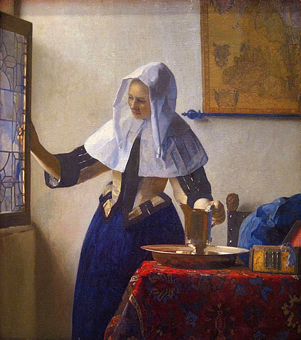 Johannes Vermeer - Young Woman with a Water Pitcher 1660-1662